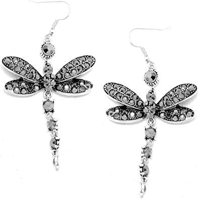 Game of sterling silver earrings with dragonflies