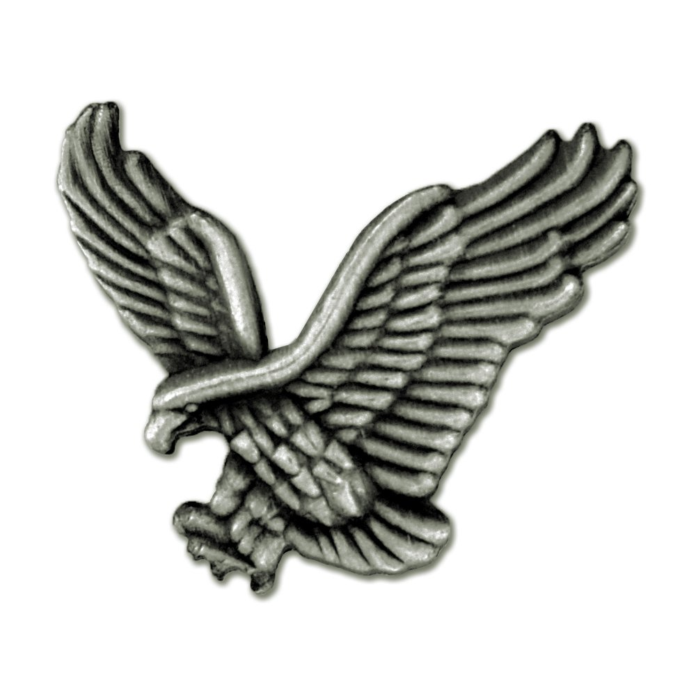 PinMart's Soaring American Antique Silver Eagle Jewelry Lapel Pin