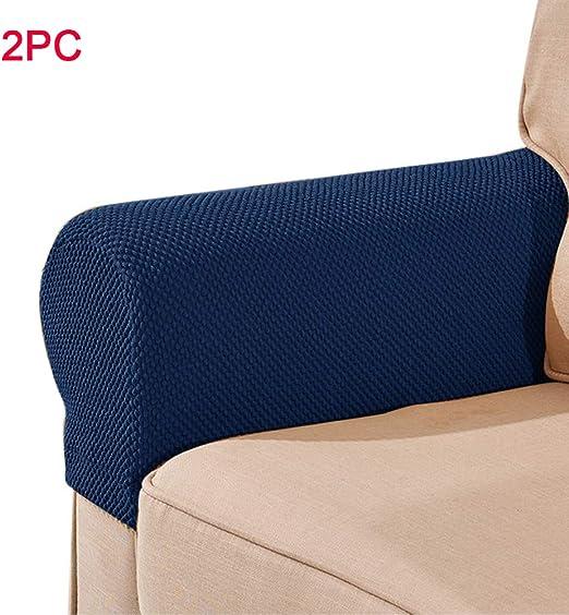 Amazon Com Yothg Stretch Sofa Armrest Covers Spandex Fabric