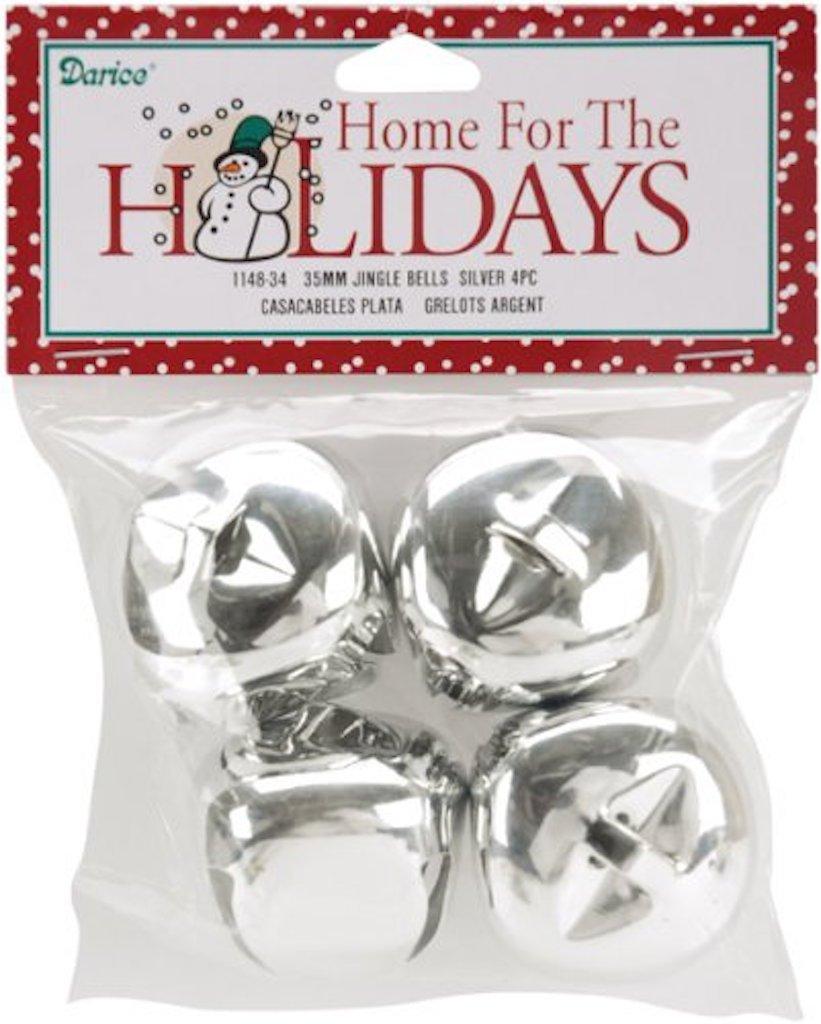 12 Gold 35 MM Jingle Bells Gold 1.38 inch Christmas Craft Bells