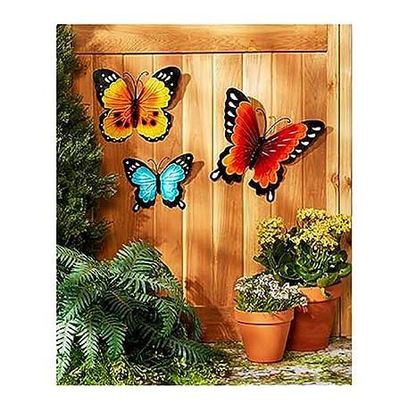 Amazon Com Wall Art Indoor Outdoor Metal Wall Decor Butterfly