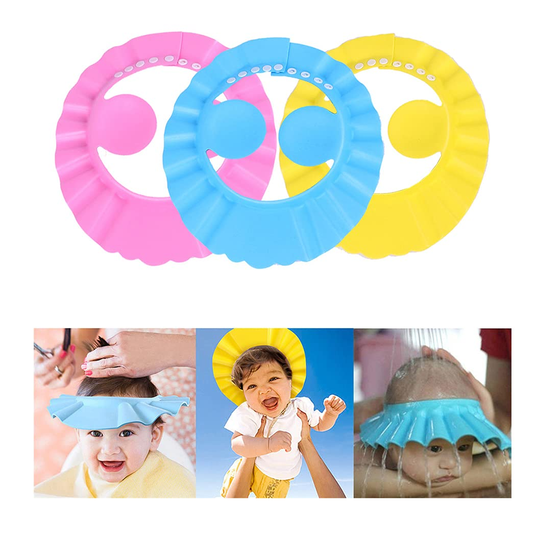 Waterproof Kids Shower Cap Elasticated Hat Reusable Bath Head Hair Cover KS