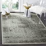 Safavieh VTG113-2111-810 Vintage Collection Spruce and Ivory Area Rug, 7-Feet 6-Inch by 10-Feet 6-Inch