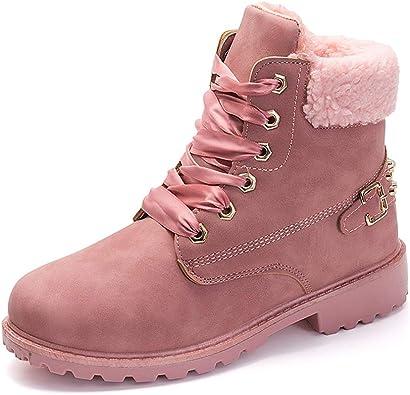 Low Heel Snow Boots Combat Slip