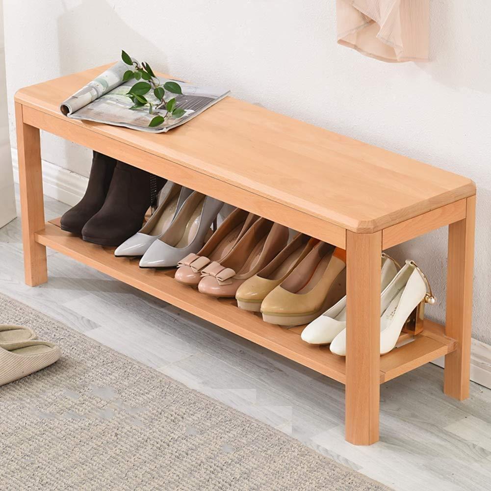 Amazon.com: DYFYMX - Banco de madera para pasillo, banco de ...
