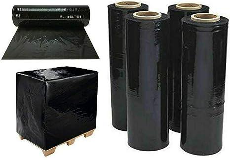 St@llion 1 STRONG ROLLS BLACK PALLET STRETCH SHRINK WRAP CAST PARCEL PACKING CLING FILM WIDTH: 400MM