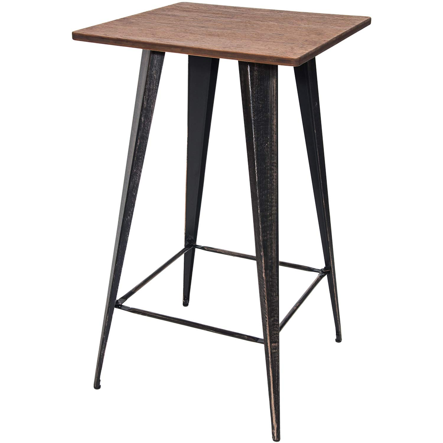 Amazon.com: Merax Bar Table No Chairs Pub Tables Bar Height 40 Inch High  Vintage Bistro Table Metal Rectangular (Antique Black): Kitchen U0026 Dining