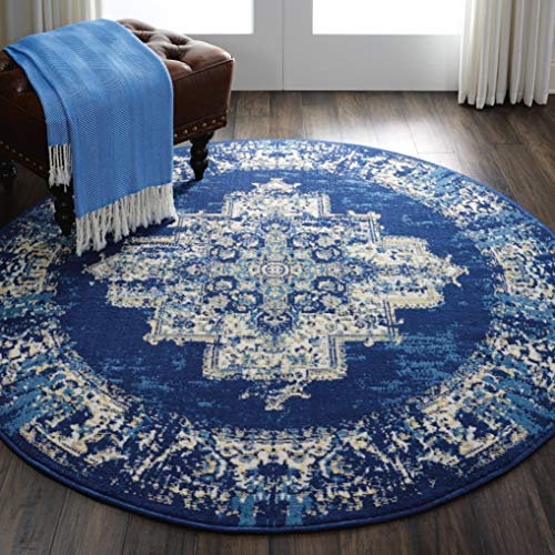 Nourison GRF14 Grafix Navy/Blue Area Rug 5'3