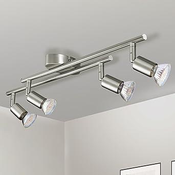 Trendig Gr4tec LED Deckenstrahler 4 flammig Deckenleuchte Schwenkbar Inkl  WO44