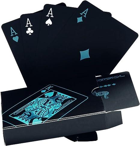 Carte da Poker Impermeabili Carte da Gioco in Finta Lamina doro Carte da Gioco in plastica per Poker 1PC VIFER Carte da Poker