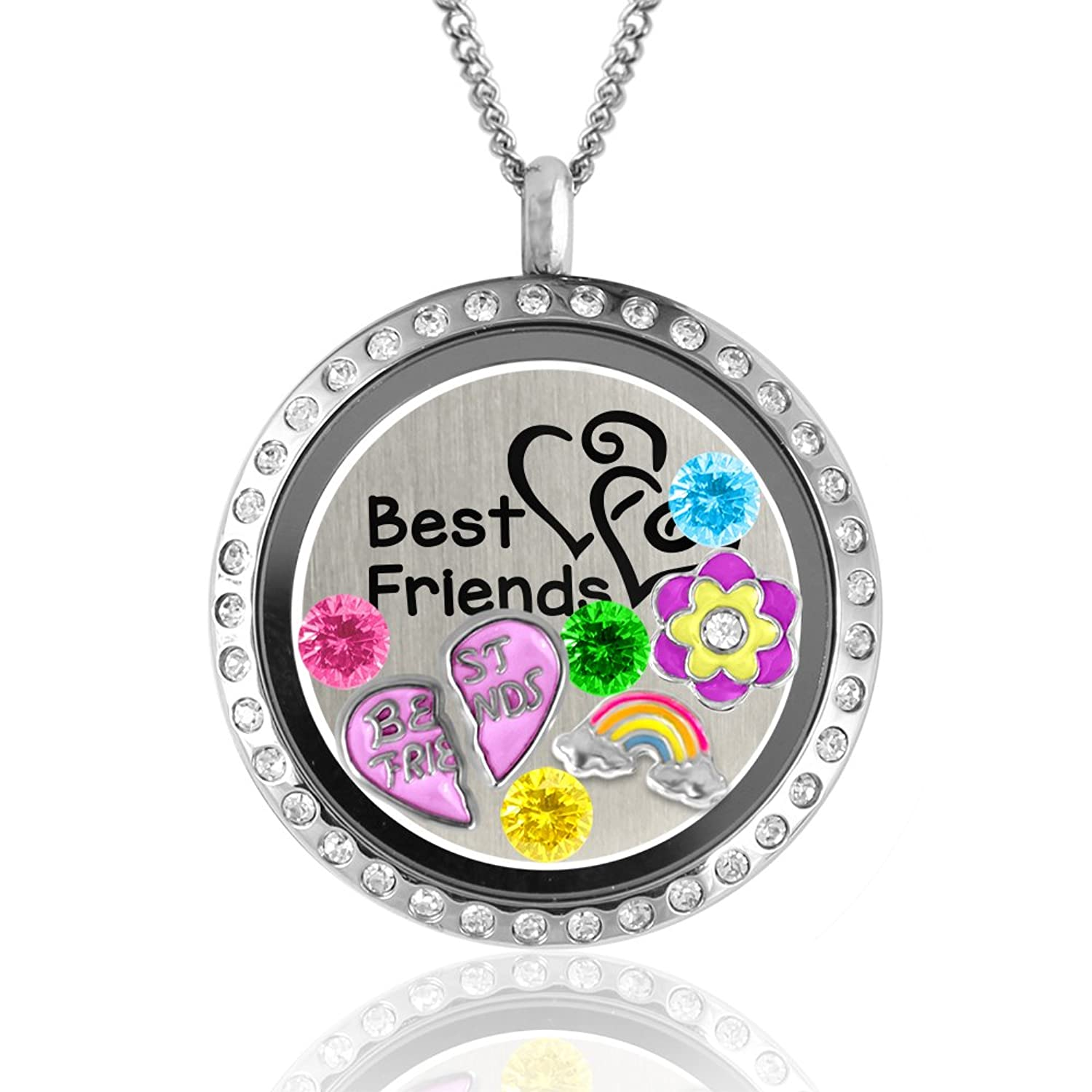 round addiction friendship lockets eve floating gold build necklace charm locket s a glass