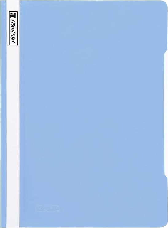 Brunnen 102011000 Schnellhefter A4, aus PVC, glasklares Deckblatt wei/ß