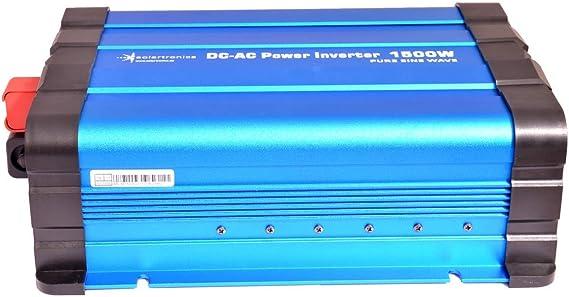Solartronics Transformador de Tensi/ón FS1500DR 12V 1500//3000 Vatios Simple Sinus Azul No Es un Pantalla
