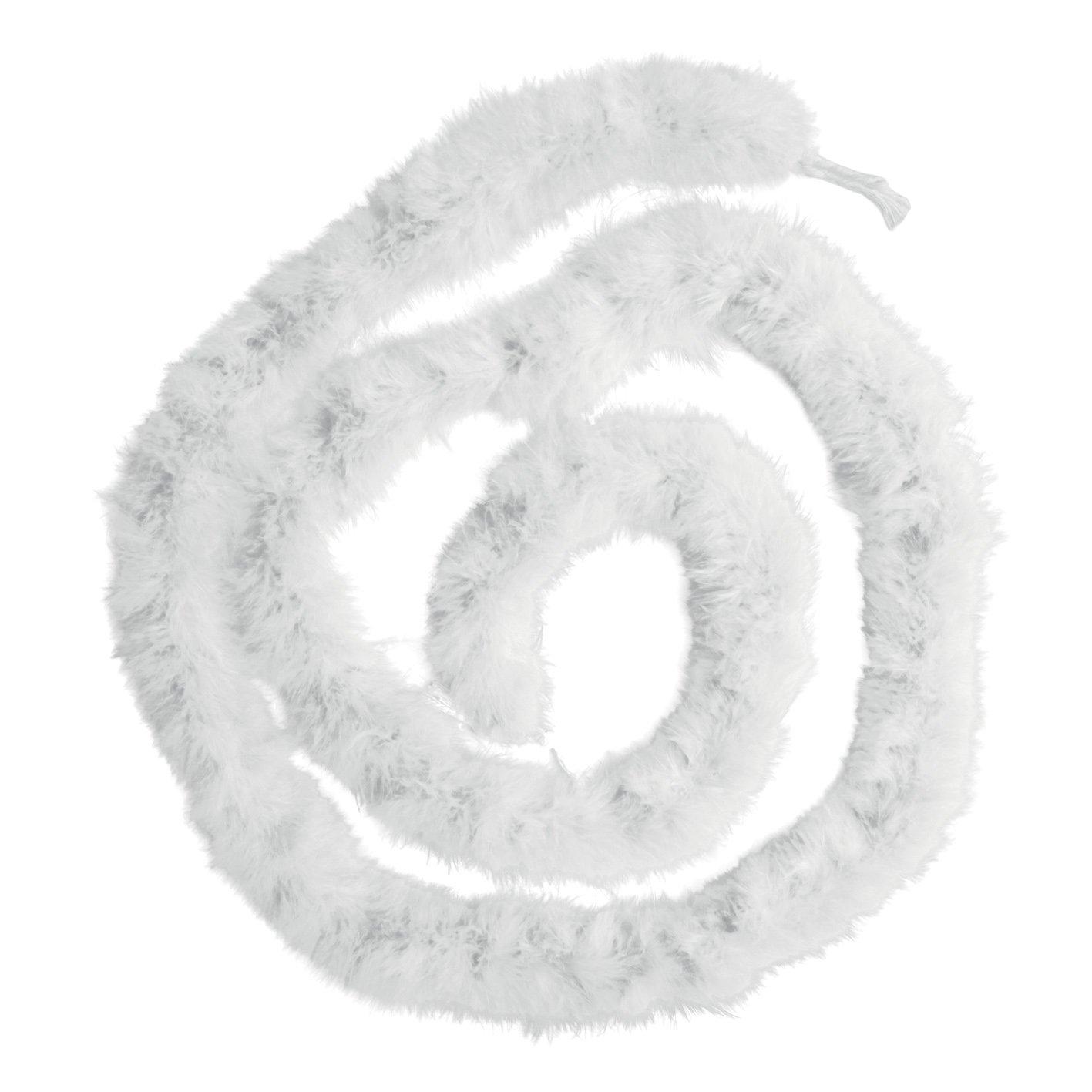 Generique - Garland marabú Blanca 180 Cm Un tamaño Boland 52581
