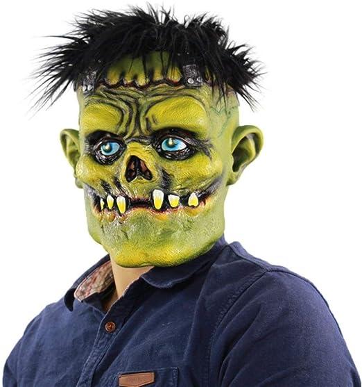 MYASOB Las máscaras de Disfraces Halloween Horror Verde con Cara ...