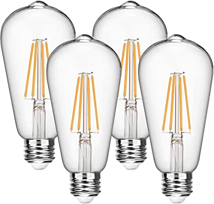 Bulb 6W E27 Filament LED Equivalent 60W Incandescent 360/° Beam Angle by Aglaia Pack of 2 Light Bulbs 600 Lumens and 2700K Warm White