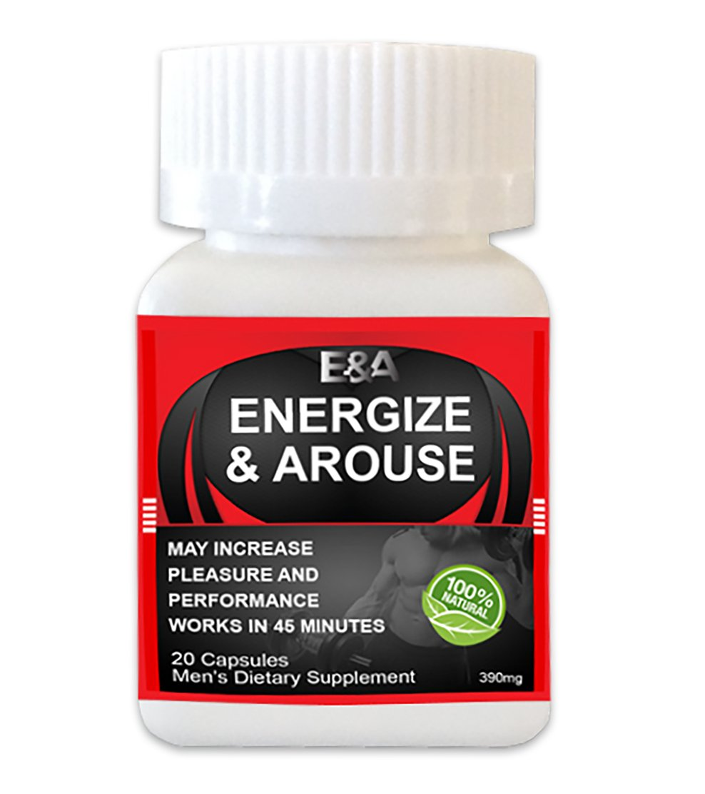 Energize & Arouse Rapid Male Performance Enhancer, Energy & Endurance Supplement with exclusive ebook