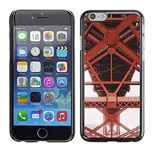 Paccase / SLIM PC / Aliminium Casa Carcasa Funda Case Cover - Iron Red Structure Construction - Apple Iphone 6