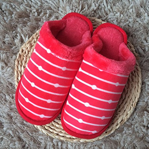épais petites piscine à 39 les À et 38 coton plus chauds chaussures d'hiver Chaussons de plush femmes accueil chaussons antidérapants hommes couple Pink l'automne ébarbures chaussons en l' 270 cqnOqXFT