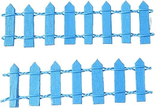 SUPVOX 10 Piezas Mini Valla de Madera Adorno Accesorio Decoración para Mini Paisaje de Jardín Miniatura Jardín de Hadas (Azul Oscuro): Amazon.es: Hogar