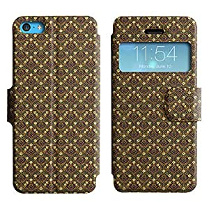 LEOCASE Funda Carcasa Cuero Tapa Case Para Apple iPhone 5C No.1007663