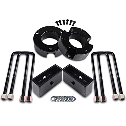 ECCPP Replacement for Black 2 inch Lift Blocks Raise Your Vehicle 2 Rear Leveling Lift Kit Black for 1995-2018 for Toyota Tacoma