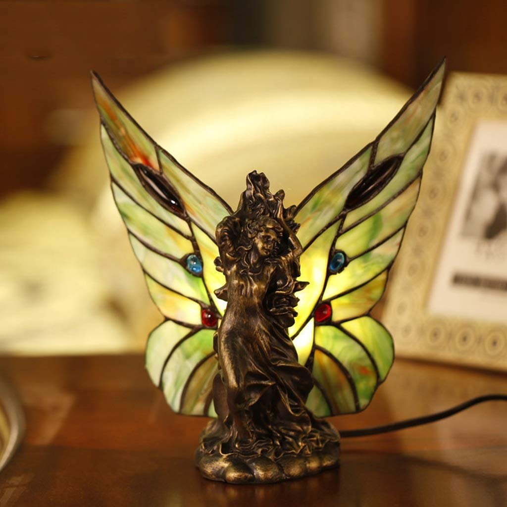 RXY-LAMP Personality Creative Retro Butterfly Wings Night Light Feeding Lamp Theme Restaurant Banquet Decoration Lighting (Size : 22x21cm)