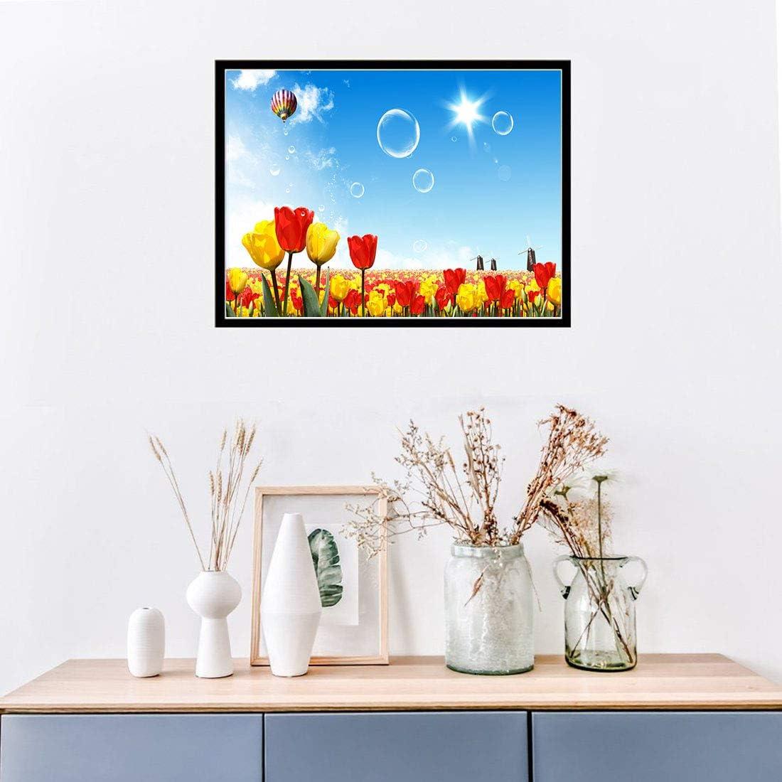 Kit de pintura de diamantes 5D para bricolaje,diy 5d diamond painting rhinestone dise/ño de tulipanes con diamantes de imitaci/ón,cuadros punto de cruz kit 40 x 30 cm
