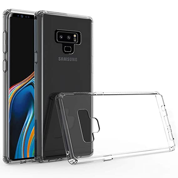 best cheap c98fb 65a1e Olixar Samsung Galaxy Note 9 Bumper Case - Hard Tough Cover - Shock  Protection - Slim Design - ExoShield - Clear