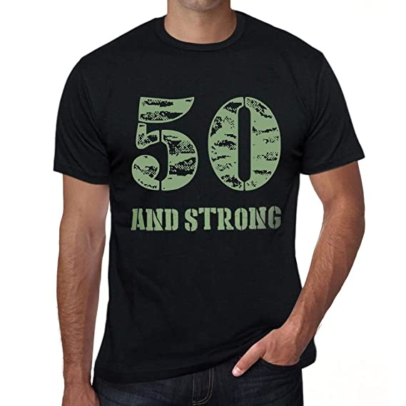 One in the City 50 and Strong Hombre Camiseta Negro Regalo ...
