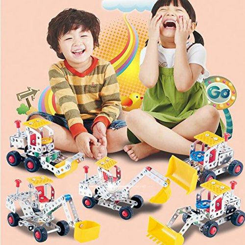 WOTOY Childrens Educational Metal Building Blocks Toys DIY Assembled robot Transformers Model Toys