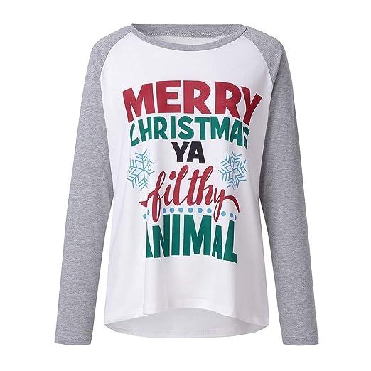 Merry Christmas Ya Filthy Animal Shirt.Ugly Christmas T Shirt Women Merry Christmas Ya Filthy