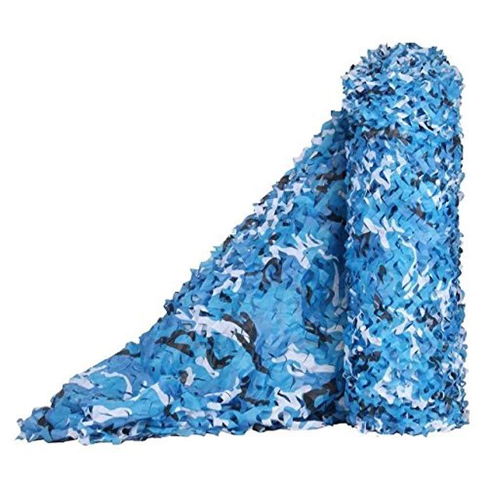 4x8M Filet de camouflage parasol multi-usage Filet de camouflage bleu marine pour la décoration de plage en plein air (taille  3x8m) BÂche AI LI WEI (Taille   2x10m)