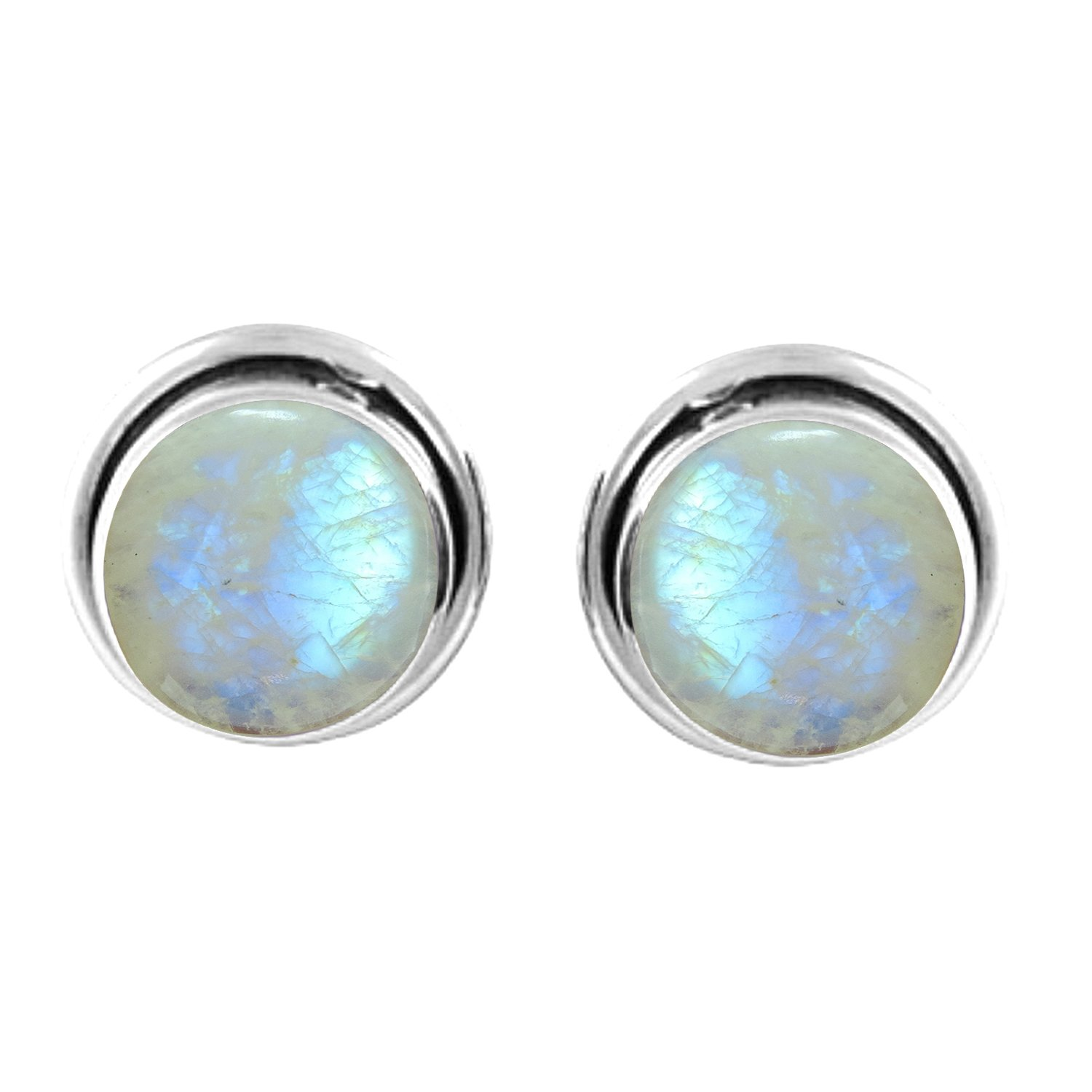 Gemstones Moonstone Stud Earrings