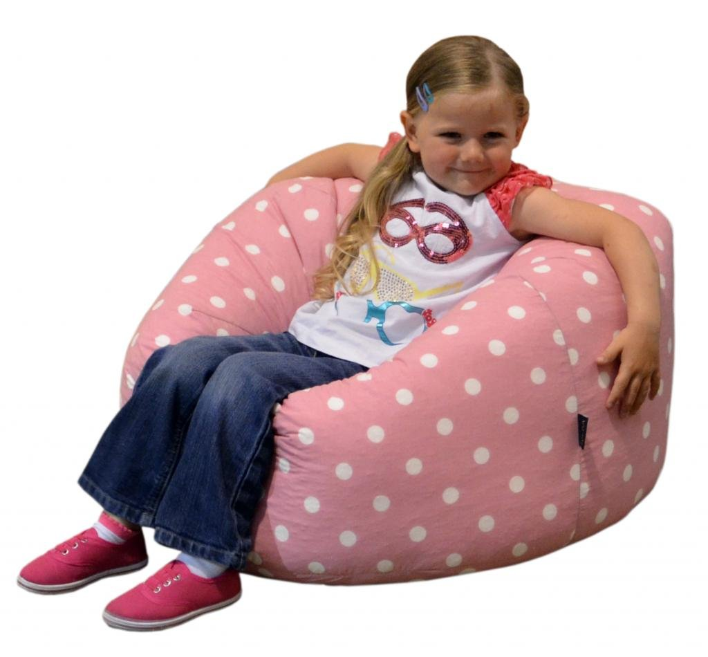 GildaR Childrens Bean Bag PINK SPOTS COTTON