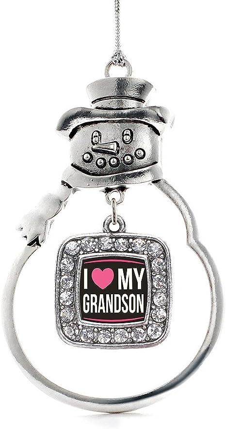 GrandSon with Love Porcelain Ornament Grandchild Simple Honest Pure Joy