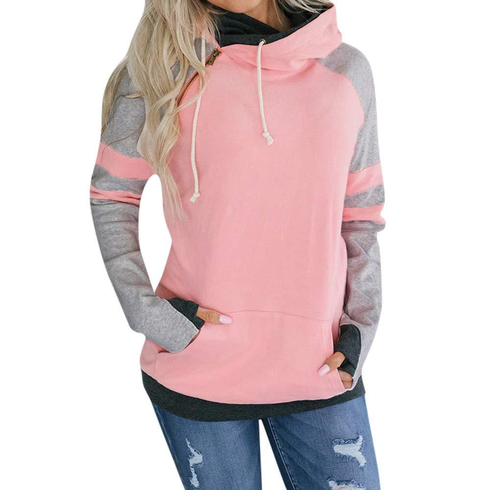 YANG-YI Clearance, Women Long Sleeve Hoodie Sweatshirt Pullover Tops Blouse Jumper Coat