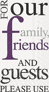 Ideal Home Range 16 Count Paper Guest Towels, Purple
