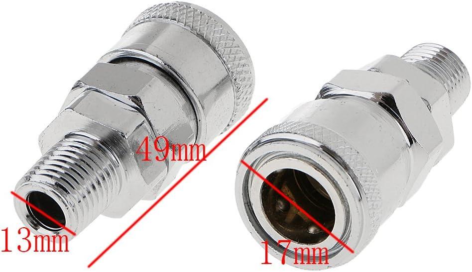 2 Stück Schnellkupplung Stecker Luftleitung Schlauchkupplung Kompressor Sm20 Baumarkt