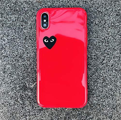 size 40 828d8 5248a Fitted Cases - Cute Love Heart Shape Comme des Garcons Case for iPhone Xs  Max Xr X 8 7 6 6s Plus Glossy CDG Play Soft Silicon TPU Cover Coque - by ...