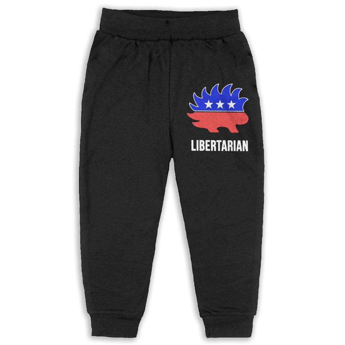 Fleece Active Joggers Elastic Pants DaXi1 Libertarian Porcupine Hedging Sweatpants for Boys /& Girls
