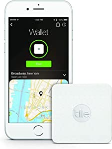 Tile Slim - Phone Finder. Wallet Finder. Laptop Finder, Skateboards - Non-Retail Packaging - 1 Pack