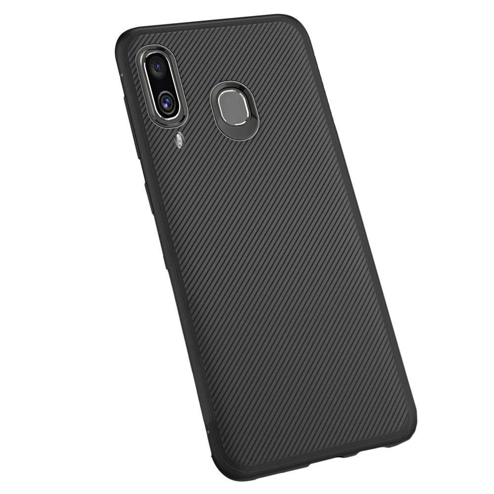 Compatible Funda Samsung A40 Galaxy SM-A405F Carcasa Silicona Negro ebestStar Cristal Templado Protector Pantalla A40: 144.3 x 69.1 x 7.9mm, 5.9 Protecci/ón Dise/ño Fibra Carbono Ultra Slim