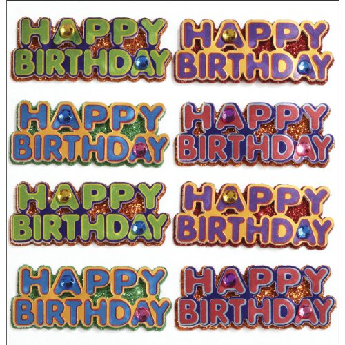 Jolee's Boutique Repeat Dimensional Stickers, Happy Birthday Words