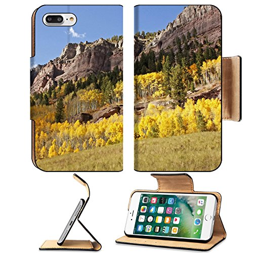 MSD Premium Apple iPhone 7 Plus Flip Pu Leather Wallet Case IMAGE ID 20851531 Scenic near Telluride Uncompahgre National Forest Colorado USA (Telluride Leather)