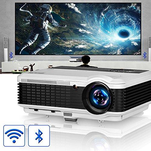 EUG LCD Wireless WiFi HD Projector WXGA Native 4600 Lumens