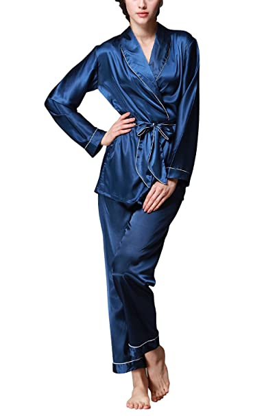 Dolamen Pijamas para Mujer, Pijamas Mujer Invierno, Mujer Camisones, Satén Suave y cálido