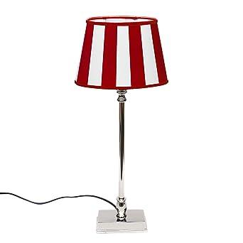Farben Gestreift Tischlampe Mit Gestreifem Lampenschirm Nachttischlampe Versch Leuchten & Leuchtmittel Möbel & Wohnen