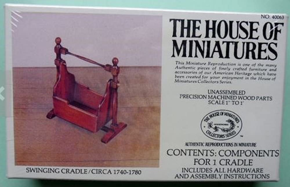 The House of Miniatures Furniture - Swinging Cradle
