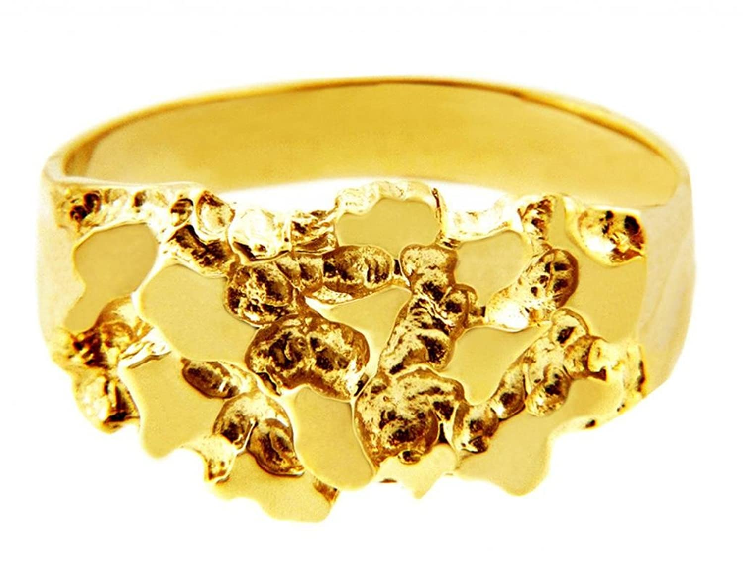 Mens 14k Gold Nugget Ring The KnightAmazoncom